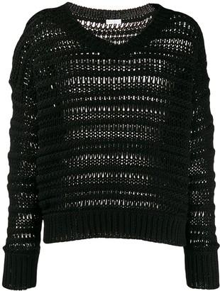 Brunello Cucinelli V-neck loose knit jumper