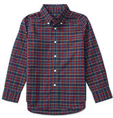 Ralph Lauren Boys 2-7 Long Sleeve Plaid Poplin Shirt