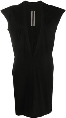 Rick Owens Plunging-Neck T-Shirt Dress