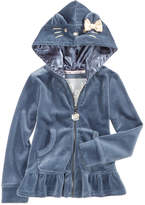Hello Kitty Embroidered Hoodie, Little Girls (4-6X)