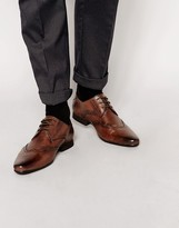 Frank Wright Leather Wing Tip Shoes