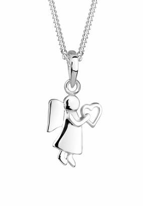 Elli Women Genuine Jewellery Necklaces Pendant Neckwear Angel Heart 925 Sterling Silver Length 45 cm