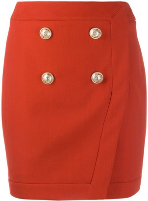 Balmain Button Detail Skirt