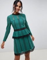 Asos Design DESIGN tiered broderie mini skater dress