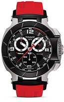50mm watches for men shopstyle uk tissot t race men s black quartz chronograph red rubber watch 50mm