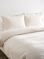 Melange Home Yarn-Dyed Flannel Duvet Set