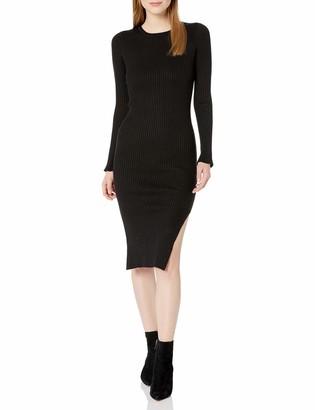 J.o.a. Women's Long Sleeve Slit Dress