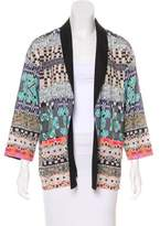 Clover Canyon Digital Printed Open Front Blazer