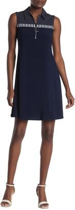 MSK Sleeveless Circle Ring Dress