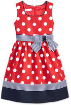 Bonnie Jean Polka Dot Dress, Toddler & Little Girls (2T-6X)