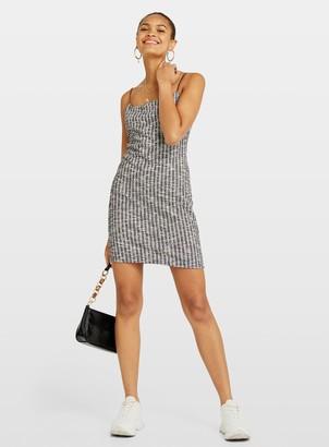 Miss Selfridge Grey Strappy Boucle Camisole Dress