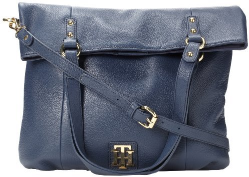 Tommy Hilfiger Back To Cool Pebble Foldover Tote Cross Body Bag