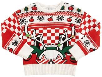 Little Marc Jacobs Cotton & Wool Blend Knit Sweater