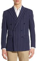 Polo Ralph Lauren Morgan Regular-Fit Pinstriped Double-Breasted Sportcoat
