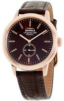 Shinola The Bedrock 20058981 Rose Gold Tone Stainless Steel & Leather Quartz 42mm Mens Watch