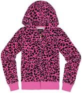 Juicy Couture Girls Logo Juicy Leopard 74 Velour Original Jacket