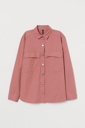 H&M Cotton twill shirt jacket