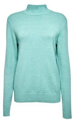 Dorothy Perkins Womens Vila Blue High Neck Knittd Jumper, Blue