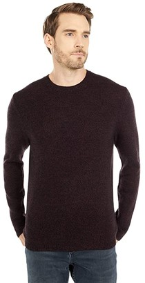 Vince Long Sleeve Crew Sweater (Sonoma Red/Black) Men's Clothing