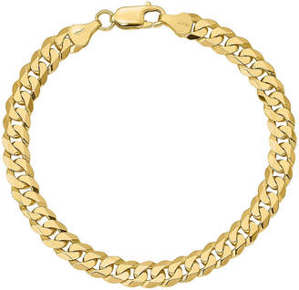 FINE JEWELRY 14K Gold 7 Inch Solid Curb Chain Bracelet