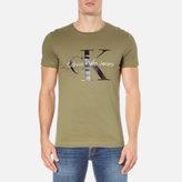 Calvin Klein Men's ReIssue Crew Neck T-Shirt - Olive Knight