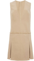 Wes Gordon Doubleface Cotton Twill V-Neck Shift Dress