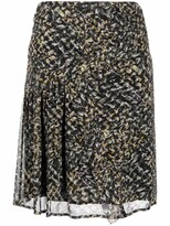Thumbnail for your product : Lala Berlin Spray Print Straight Skirt