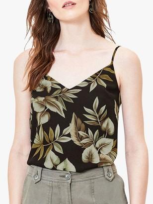 Oasis Tropical Print Cami Top, Black/Multi