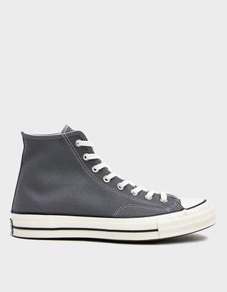 Converse Men's Chuck Taylor 70 Hi Sneaker in Grey, Size 8 | Textile/Rubber