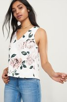 Dynamite V-Neck Crop Top with Open Back Details