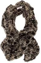 Cassin Knit Rabbit Fur Stole