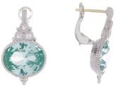 Judith Ripka Sterling Silver La Petite Oval Paraiba Spinel Earrings