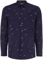 Peter Werth Men's Gallery Seagull Print Cotton Shirt