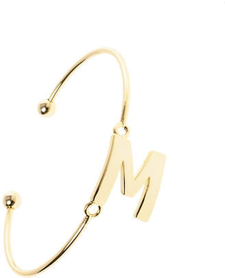 Passiana Gold Initial Bangle