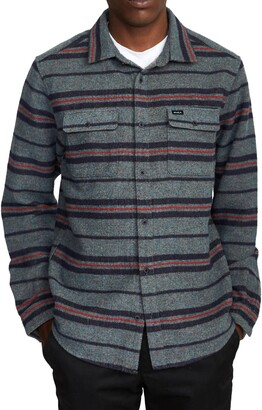 RVCA Blanket Stripe Flannel Button-Up Shirt