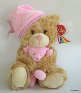 ToyCentre Keel Toys 25cm Cuddles Musical Bear Soft Toy Pink