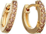 Astley Clarke Mini Halo 14ct yellow-gold cognac diamond hoop earrings