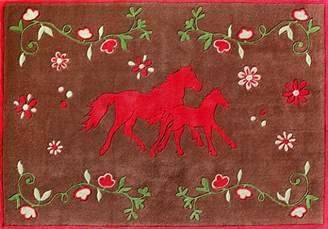 Pferdefreunde Horse Rug Brown Fushia PF - 103–01, brown, 110*170cm
