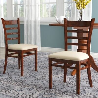 Regal Beechwood Solid Back Seat Upholstered Dining Chair Shopstyle