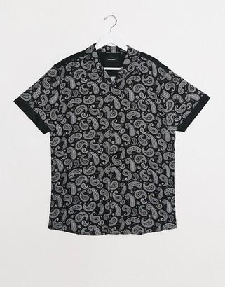 Night Addict paisley print short sleeve shirt co-ord