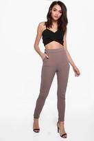 Boohoo Eva Crepe Stretch Skinny Trousers