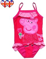 Peppa Pig Swimwear ,Peppa Pig Swimsuit ,Adorable One Piece Swimsuit With Mesh Tutu!