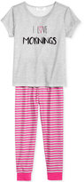 Family Pajamas I Love Mornings Pajama Set, Only at Macy's, Little Girls (2T-7) & Big Girls (8-16)