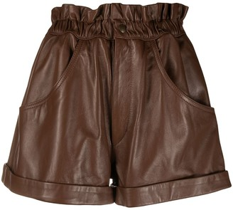 Forte Dei Marmi Couture Paperbag Flared Shorts
