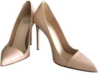 Francesco Russo Beige Patent leather Heels