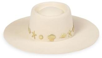 LACK OF COLOR Seaside Wool Wide-Brim Boater Hat