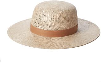 Janessa Leone Kerry Straw Fedora Hat