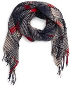 Sole Society Women's Gradient Houndstooth Scarf