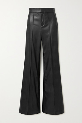Alice + Olivia Alice Olivia - Dylan Vegan Leather Wide-leg Pants - Black