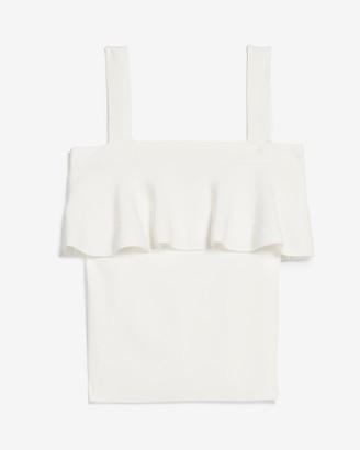 Express Tiered Ruffle Sweater Cami